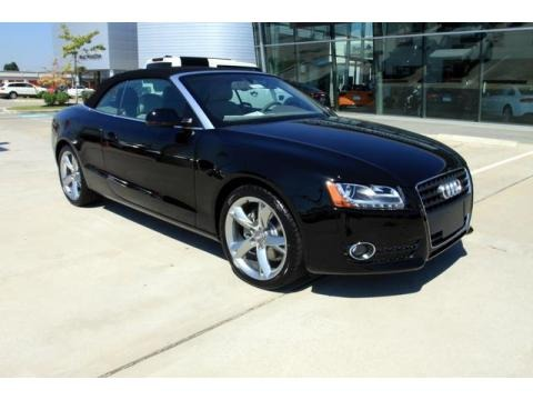 Brilliant Black 2011 Audi A5 2.0T Convertible. Brilliant Black Linen Beige