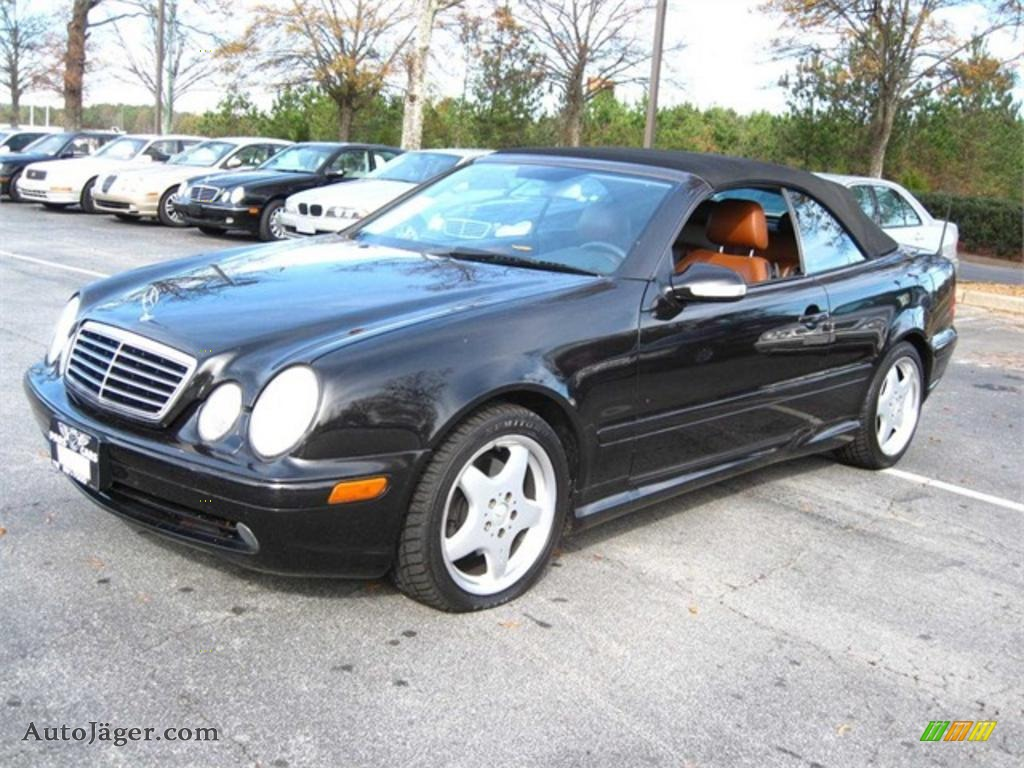 2000 mercedes benz clk 430 cabriolet in black 049300. Black Bedroom Furniture Sets. Home Design Ideas