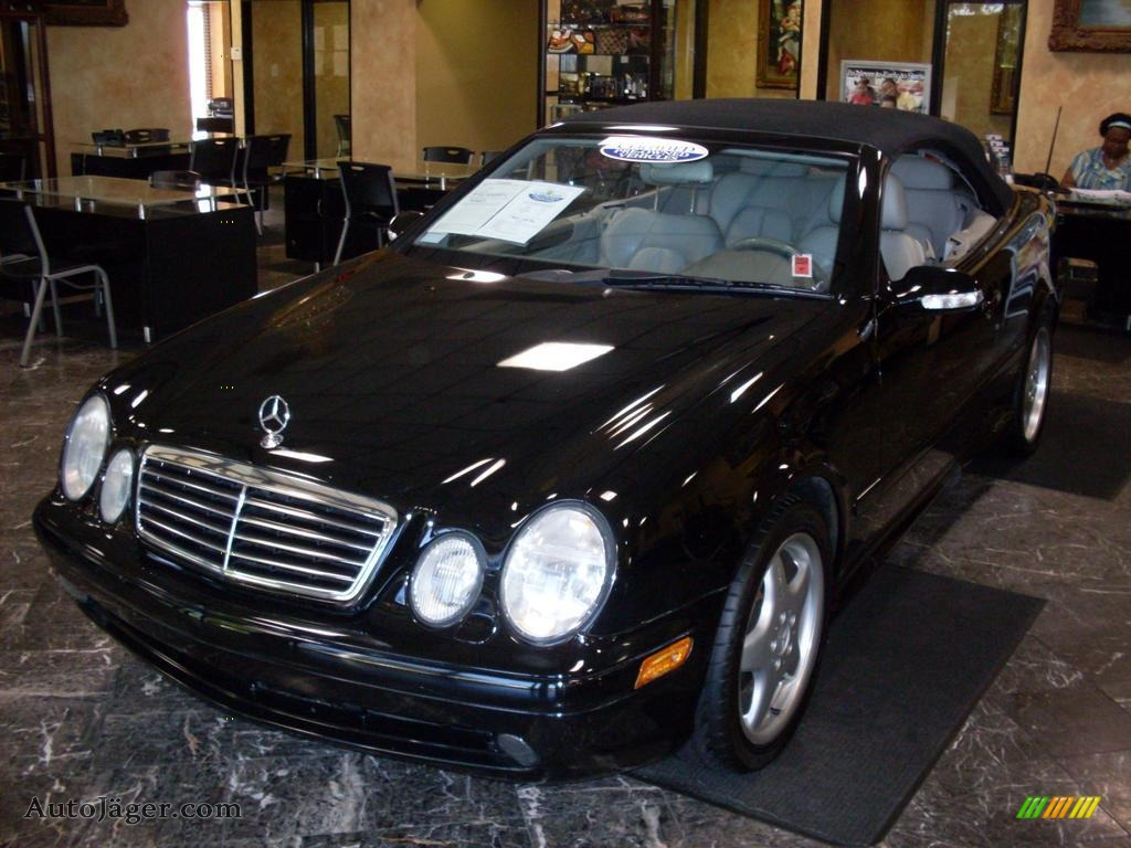 2001 mercedes benz clk 430 cabriolet in black 060222. Black Bedroom Furniture Sets. Home Design Ideas