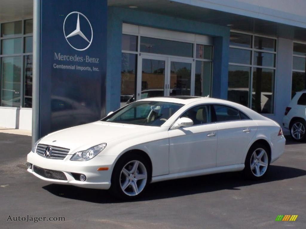Diamond White Metallic / Cashmere Beige Mercedes-Benz CLS 550