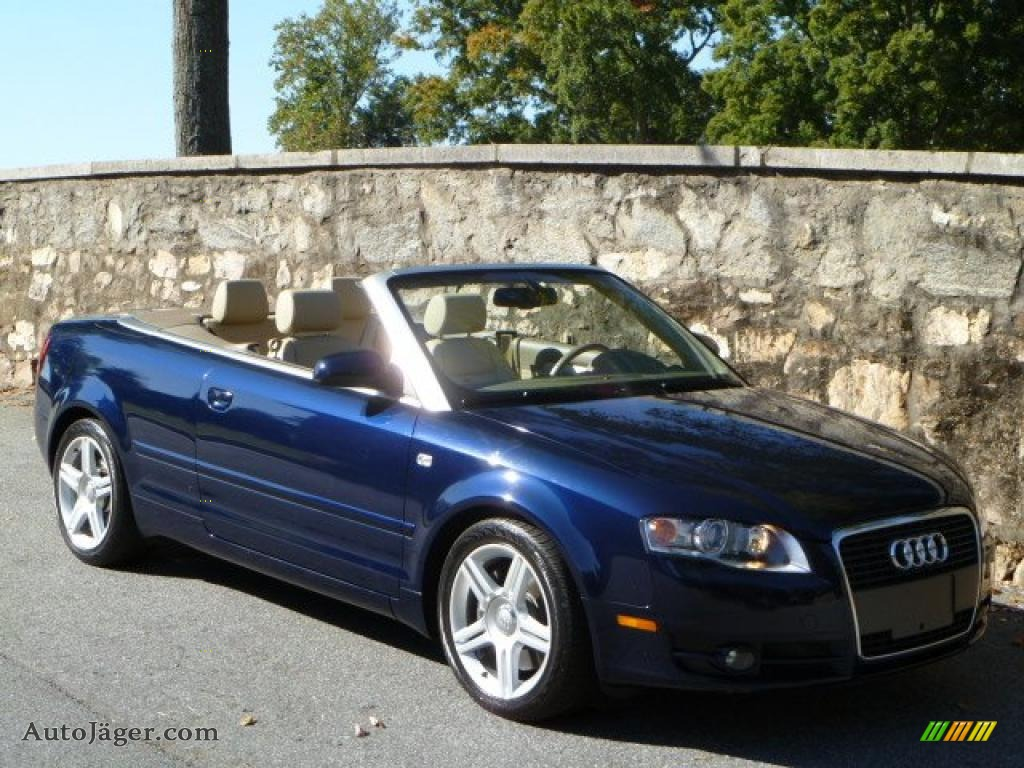 2007 audi a4 2 0t cabriolet in moro blue pearl effect. Black Bedroom Furniture Sets. Home Design Ideas