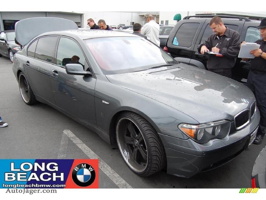 Titanium Grey Metallic Black BMW 7 Series 745Li Sedan