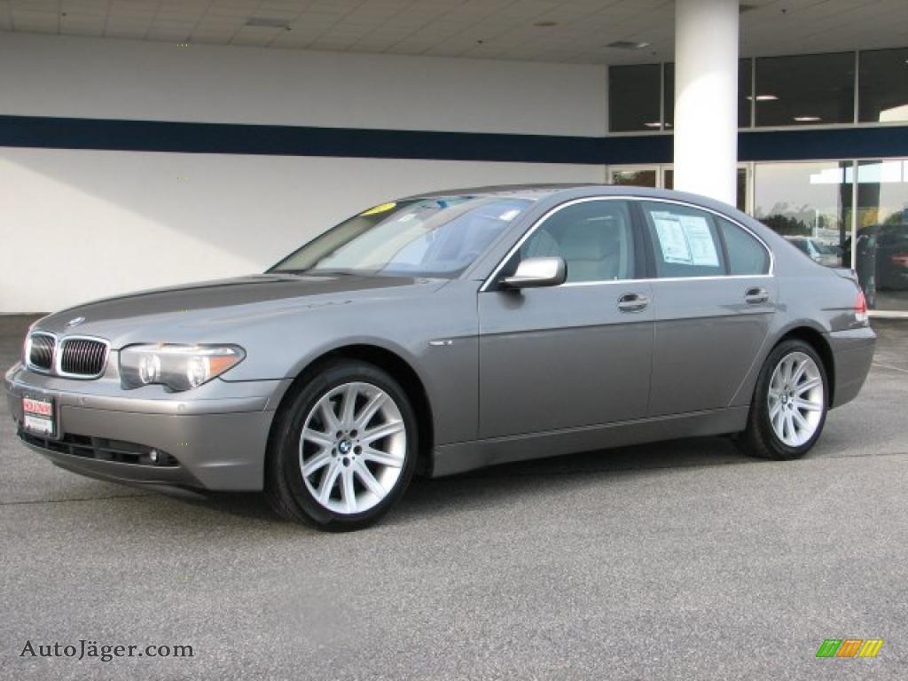 Titanium Grey Metallic Flannel BMW 7 Series 745i Sedan