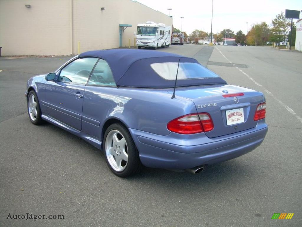 2001 mercedes benz clk 430 cabriolet in quartz blue. Black Bedroom Furniture Sets. Home Design Ideas