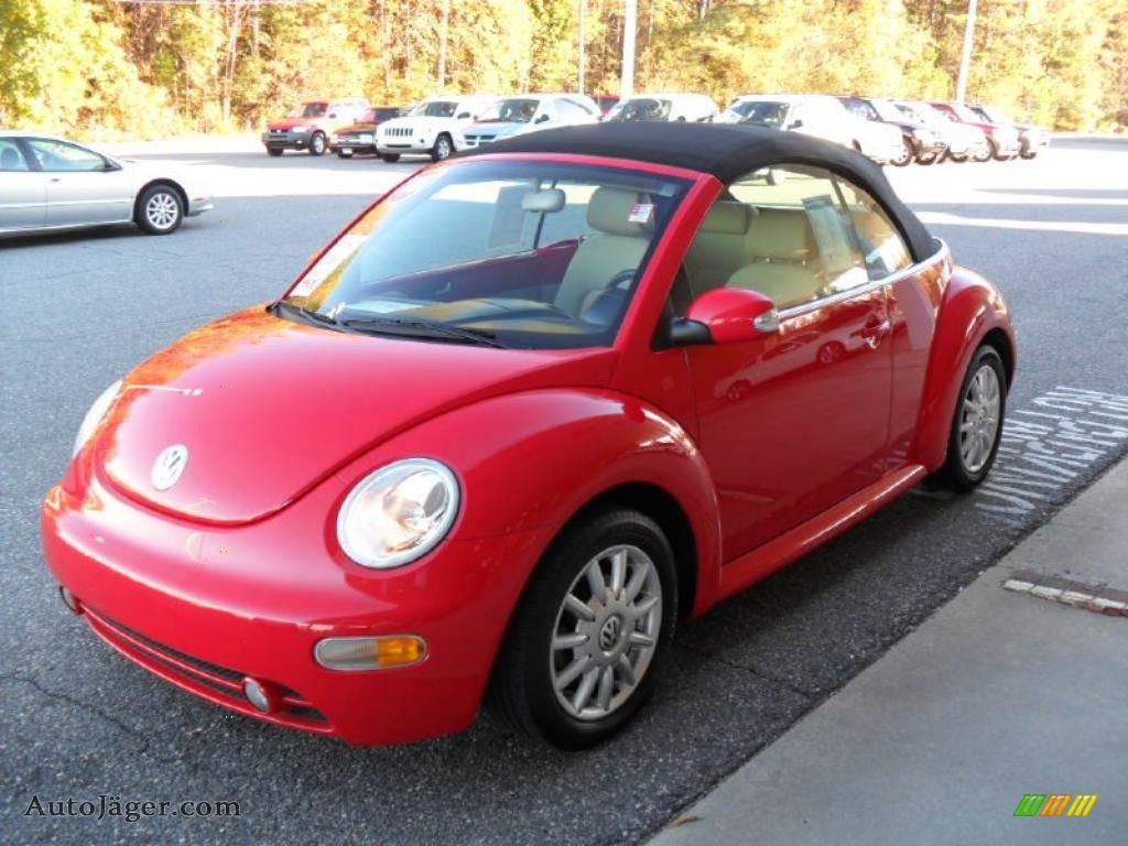 2004 volkswagen new beetle gls convertible in uni red 333928 auto j ger german cars for. Black Bedroom Furniture Sets. Home Design Ideas