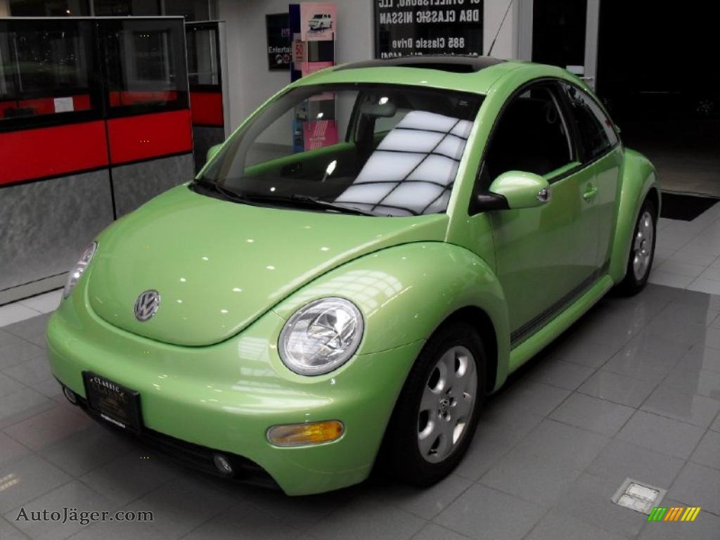 2003 volkswagen new beetle gls coupe in cyber green. Black Bedroom Furniture Sets. Home Design Ideas