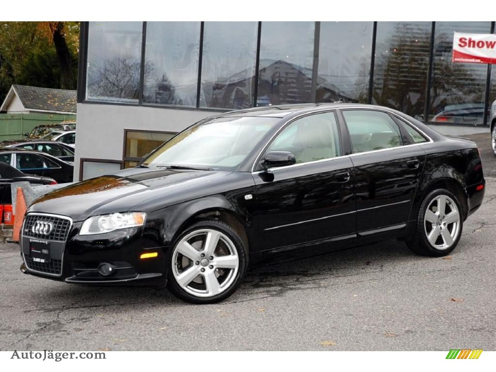 2008 audi a4 3 2 quattro s line sedan in brilliant black photo 2 020110 auto j ger german. Black Bedroom Furniture Sets. Home Design Ideas