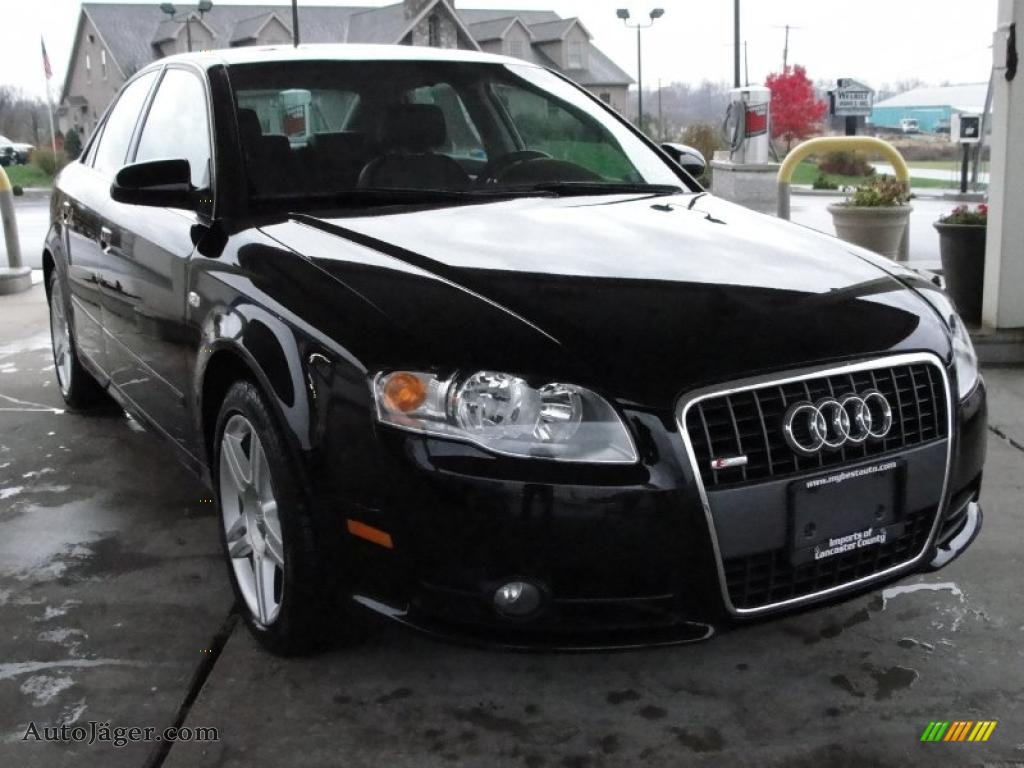 2008 audi a4 2 0t quattro s line sedan in brilliant black 035546 auto j ger german cars. Black Bedroom Furniture Sets. Home Design Ideas