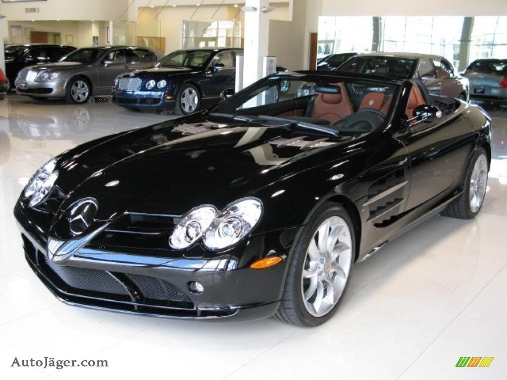 2008 mercedesbenz slr mclaren roadster in pure black