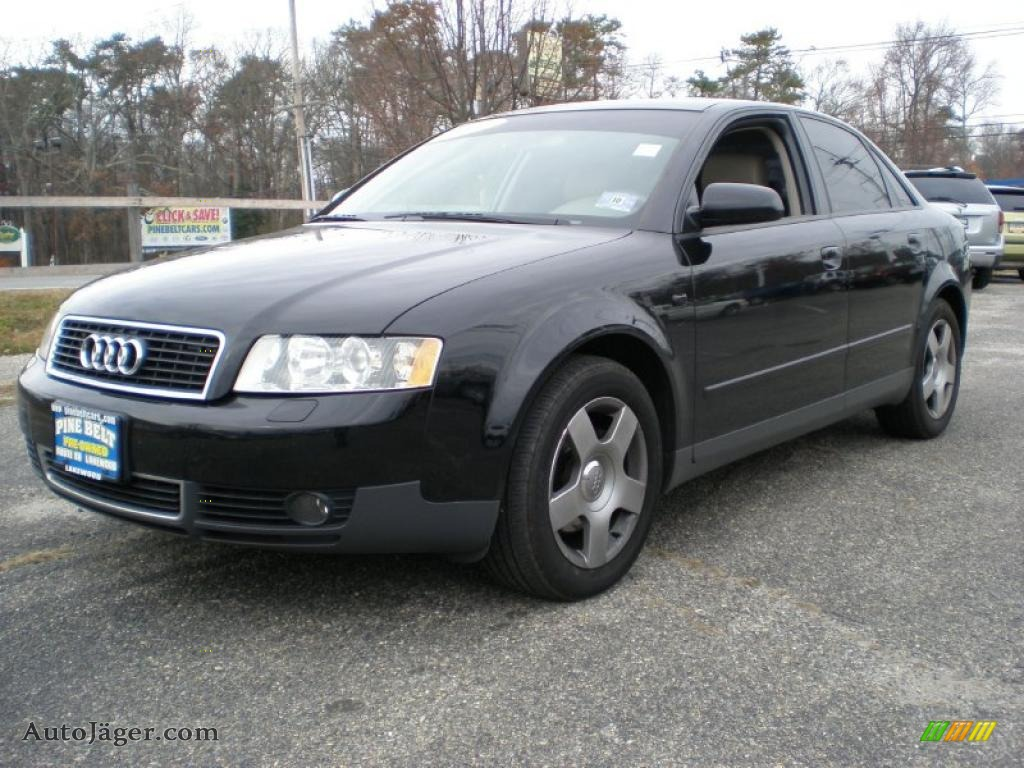 2004 audi a4 1 8t quattro sedan in brilliant black 004728 auto j ger german cars for sale. Black Bedroom Furniture Sets. Home Design Ideas