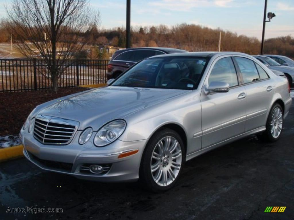 2008 mercedes benz e 350 4matic sedan in iridium silver metallic 357256 auto j ger german. Black Bedroom Furniture Sets. Home Design Ideas