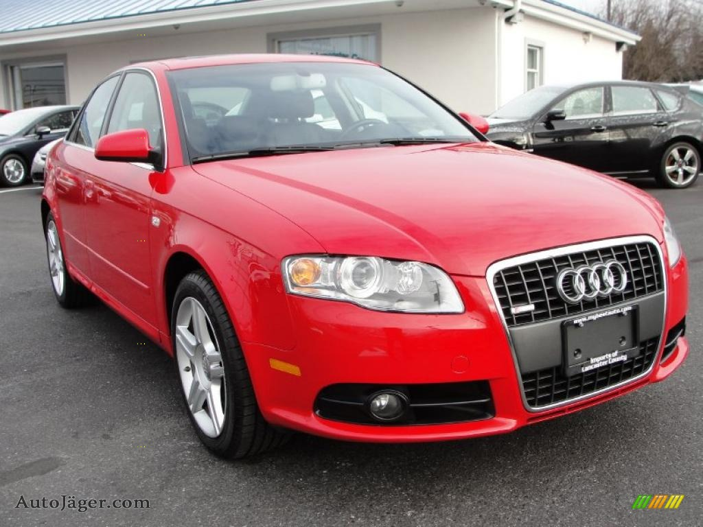 2008 audi a4 2 0t quattro s line sedan in brilliant red 085804 auto j ger german cars for. Black Bedroom Furniture Sets. Home Design Ideas