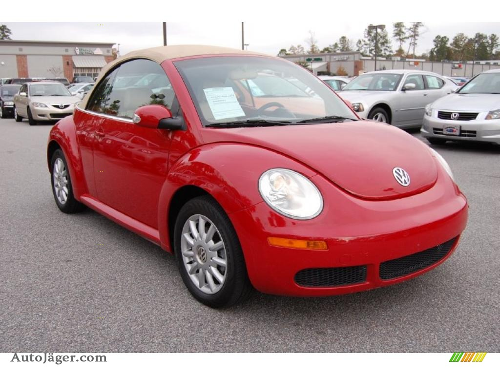 2006 volkswagen new beetle 2 5 convertible in salsa red 320783 auto j ger german cars for. Black Bedroom Furniture Sets. Home Design Ideas