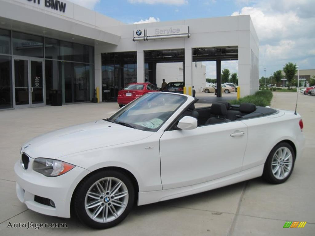 2011 Bmw 1 Series 128i Convertible In Alpine White