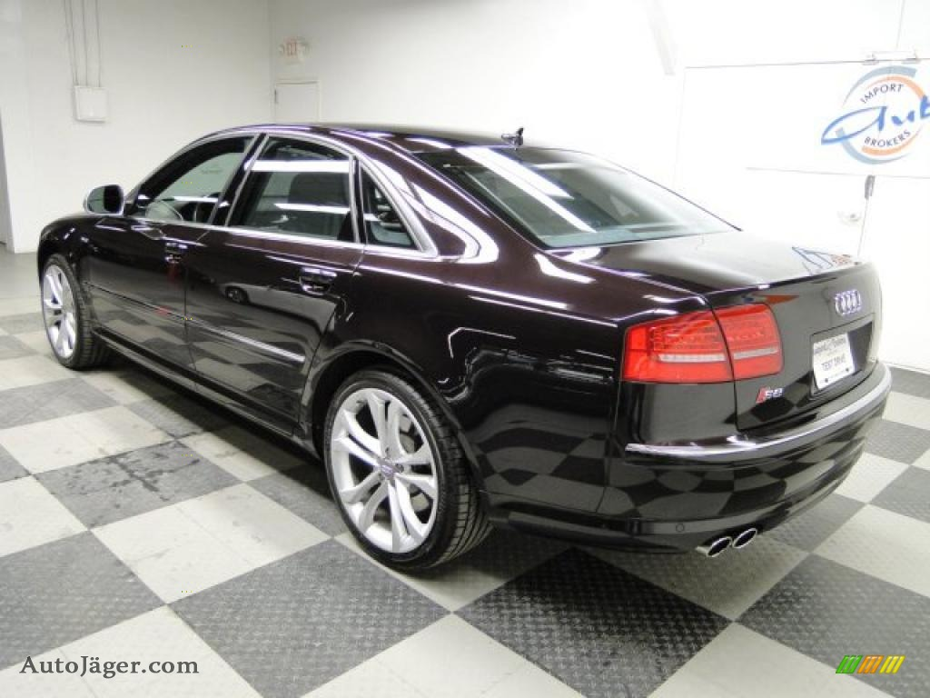 2008 audi s8 5 2 quattro in cherry black pearl effect photo 9 006156 auto j ger german. Black Bedroom Furniture Sets. Home Design Ideas