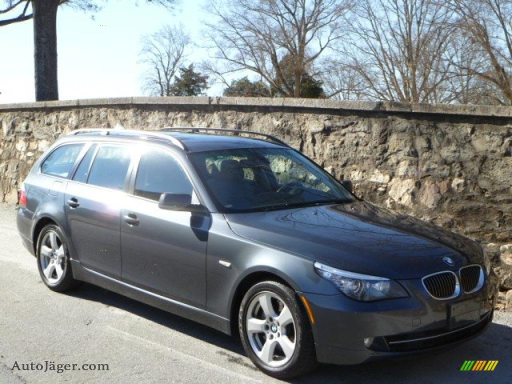 2008 Bmw 5 Series 535xi Sports Wagon In Platinum Grey Metallic