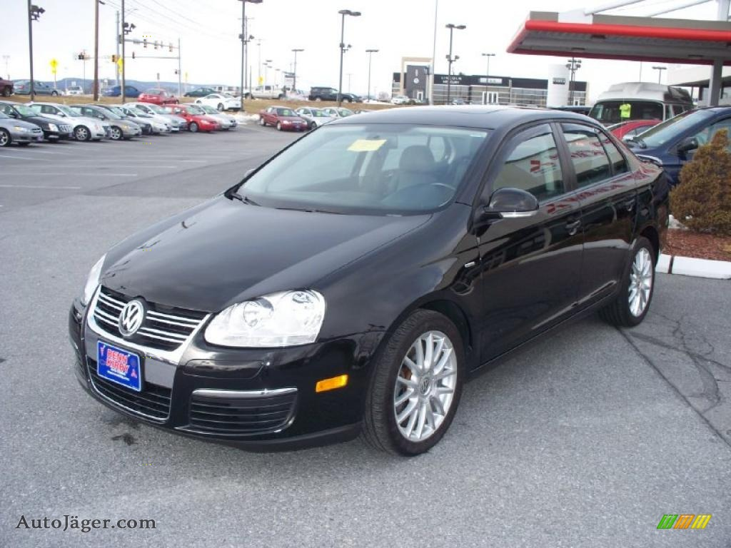 2008 volkswagen jetta wolfsburg edition sedan in black. Black Bedroom Furniture Sets. Home Design Ideas