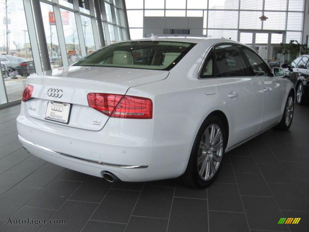 2011 audi a8 l 4 2 fsi quattro in ibis white photo 4. Black Bedroom Furniture Sets. Home Design Ideas