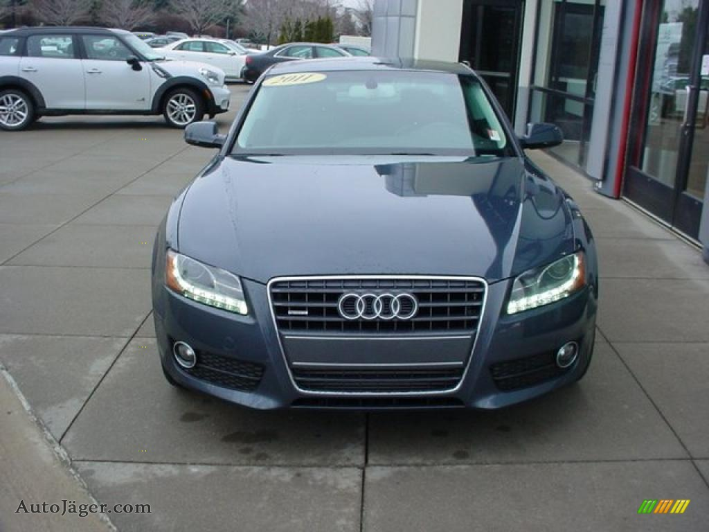 2011 a5 2 0t quattro coupe meteor grey pearl effect black photo 2