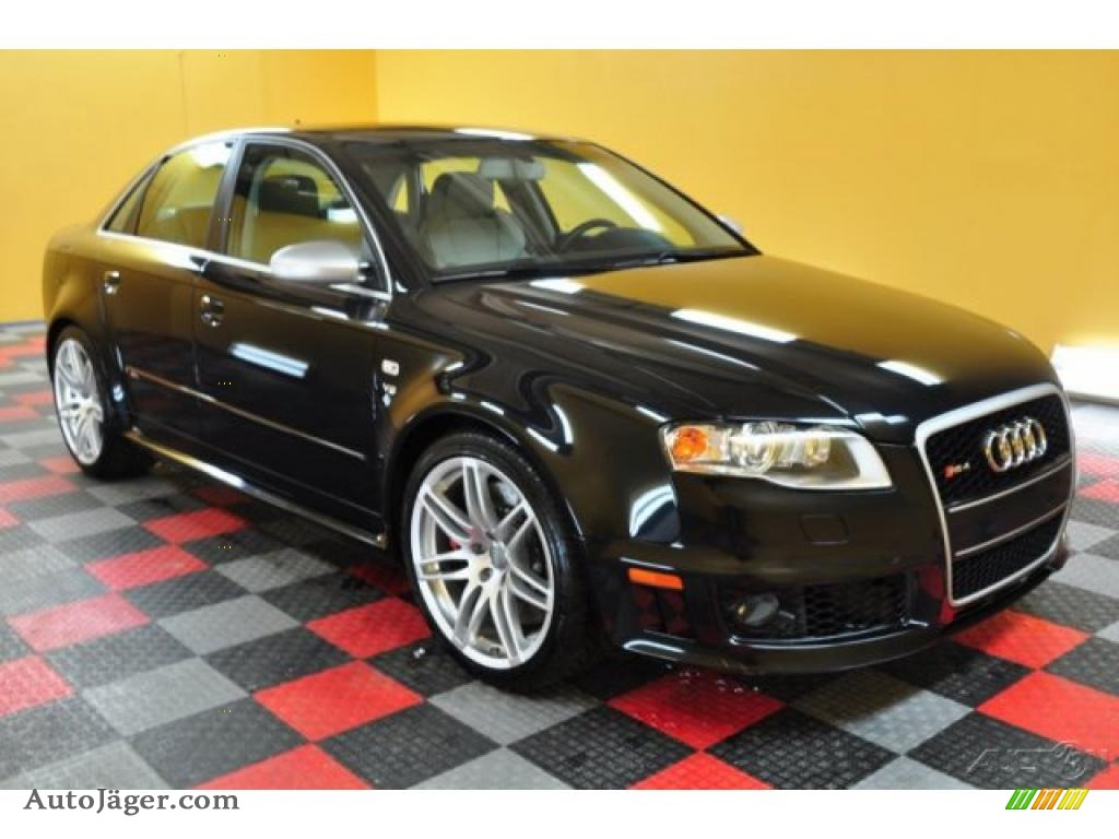 2007 audi rs4 4 2 quattro sedan in phantom black pearl effect 907982 auto j ger german. Black Bedroom Furniture Sets. Home Design Ideas