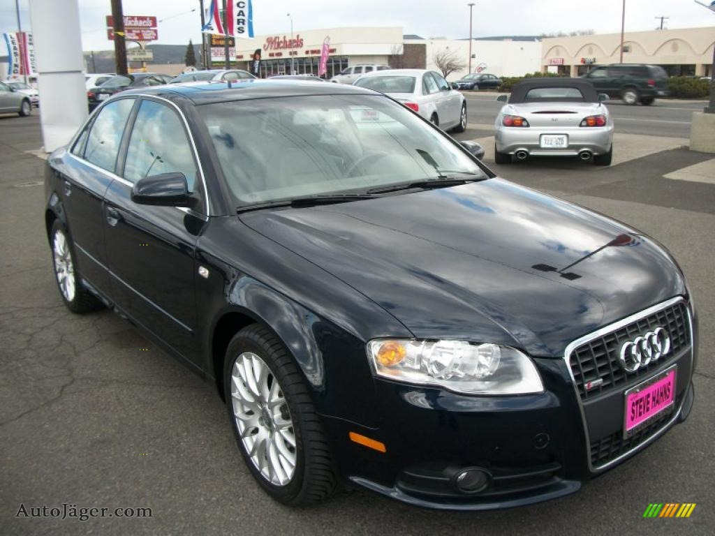 2008 audi a4 2 0t quattro s line sedan in deep sea blue pearl effect 162490 auto j ger. Black Bedroom Furniture Sets. Home Design Ideas