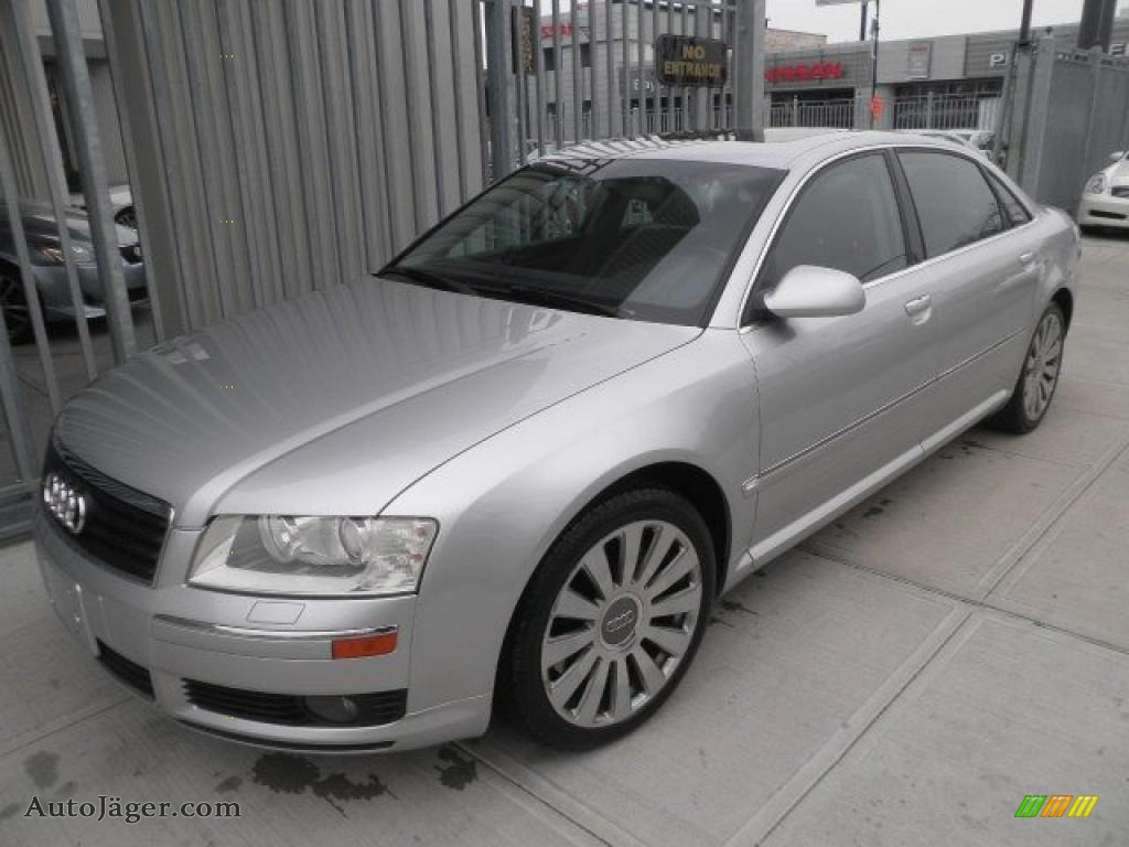 2005 audi a8 l 4 2 quattro in light silver metallic 012891 auto j ger german cars for sale. Black Bedroom Furniture Sets. Home Design Ideas