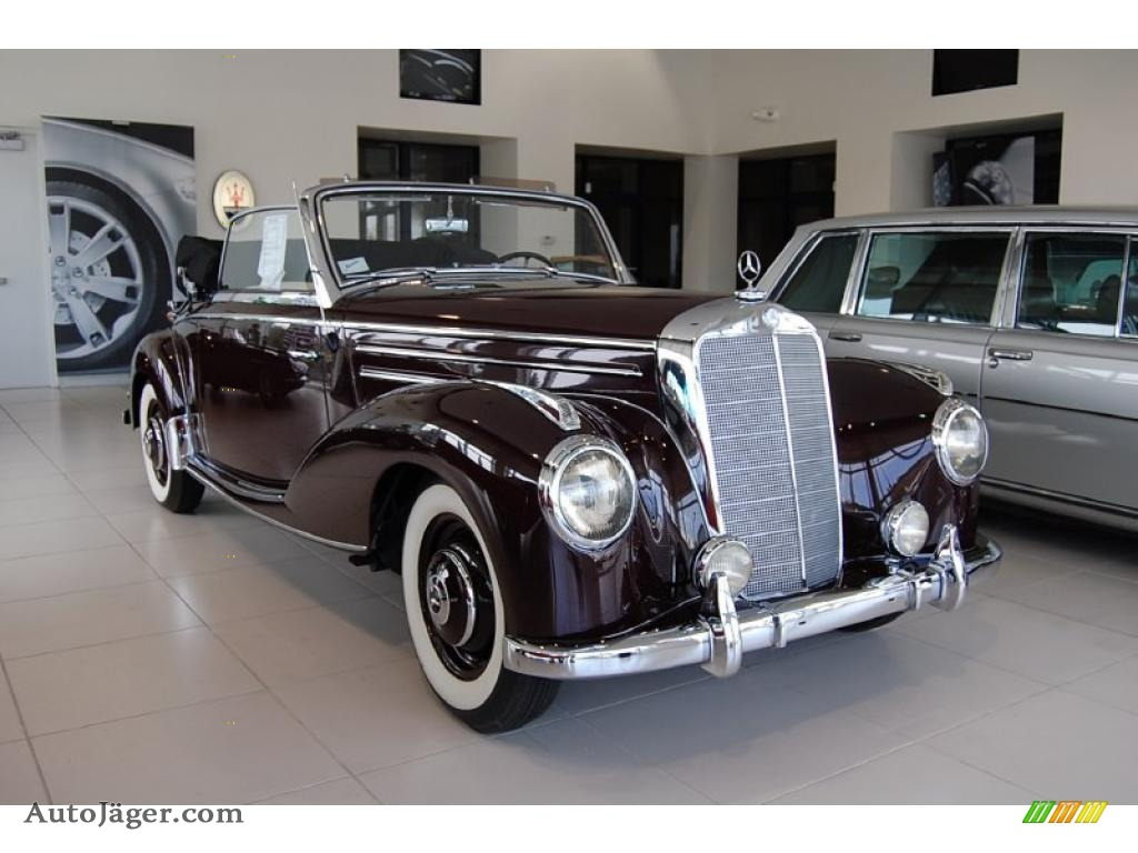 1953 mercedes benz 220 cabriolet in dark red 034553 for Simonson mercedes benz