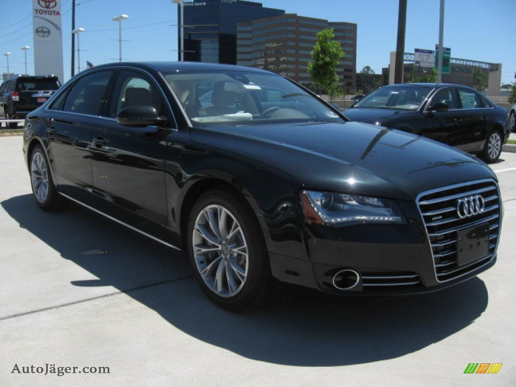 2011 audi a8 l 4 2 fsi quattro in emerald black metallic. Black Bedroom Furniture Sets. Home Design Ideas
