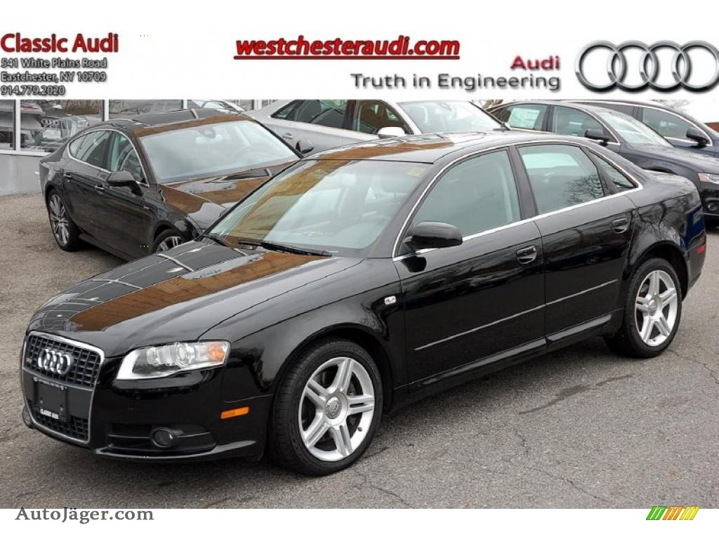2008 audi a4 2 0t quattro s line sedan in brilliant black 098907 auto j ger german cars. Black Bedroom Furniture Sets. Home Design Ideas