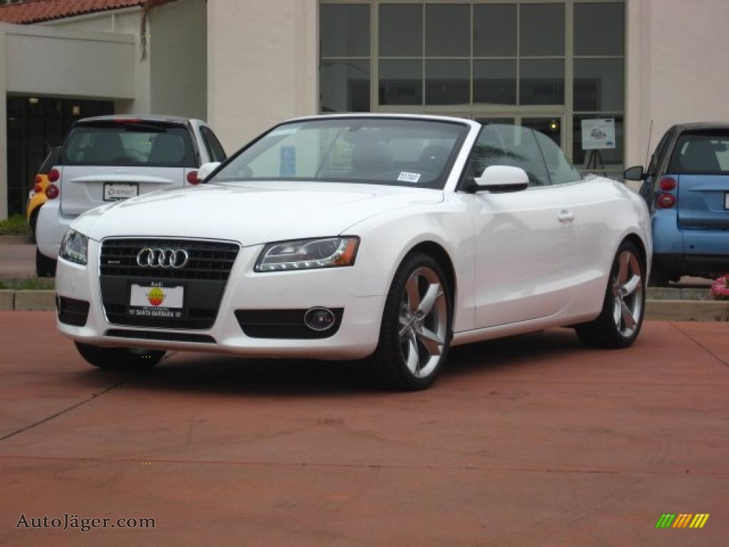 2011 audi a5 2 0t quattro convertible in ibis white 016771 auto j ger german cars for sale. Black Bedroom Furniture Sets. Home Design Ideas