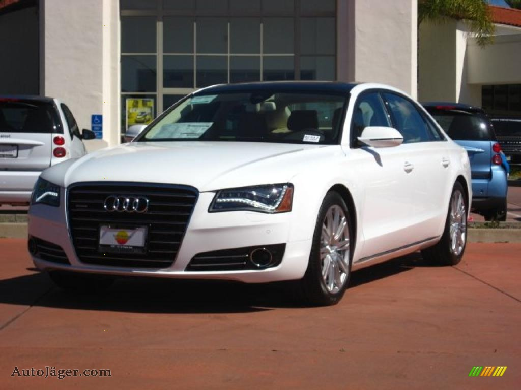 2011 audi a8 l 4 2 fsi quattro in ibis white 021095. Black Bedroom Furniture Sets. Home Design Ideas