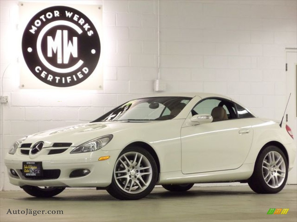 2008 mercedes benz slk 280 roadster in arctic white for Mercedes benz slk roadster for sale