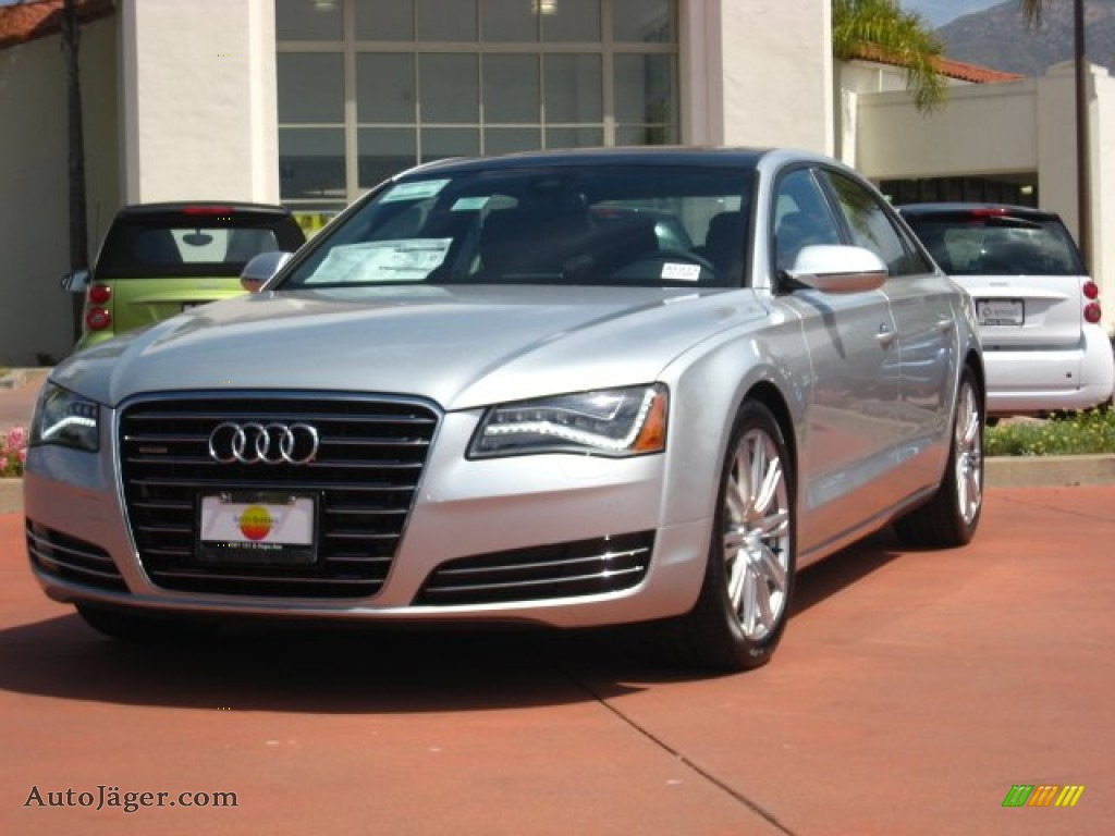 2011 audi a8 l 4 2 fsi quattro in ice silver metallic. Black Bedroom Furniture Sets. Home Design Ideas