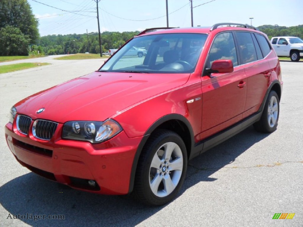 2006 Bmw X3 3 0i In Flamenco Red Metallic D32955 Auto