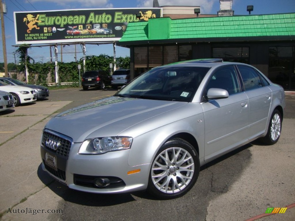 2008 audi a4 2 0t quattro s line sedan in light silver metallic 149868 auto j ger german. Black Bedroom Furniture Sets. Home Design Ideas