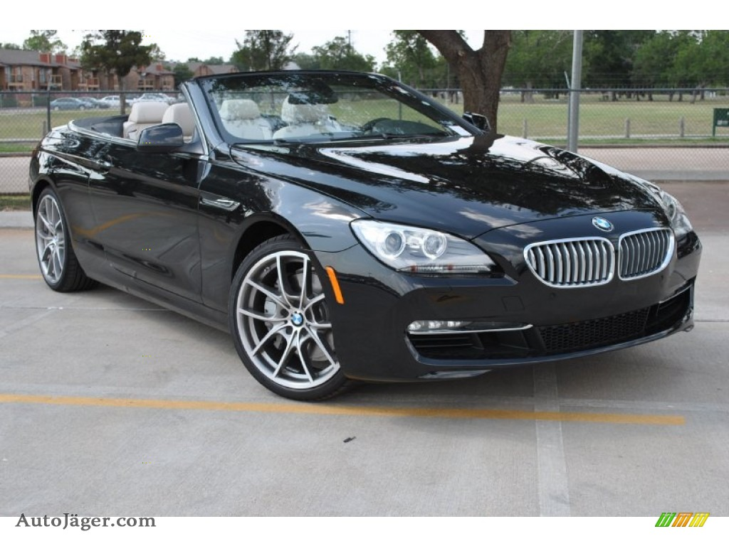 2012 Bmw 6 Series 650i Convertible In Black Sapphire