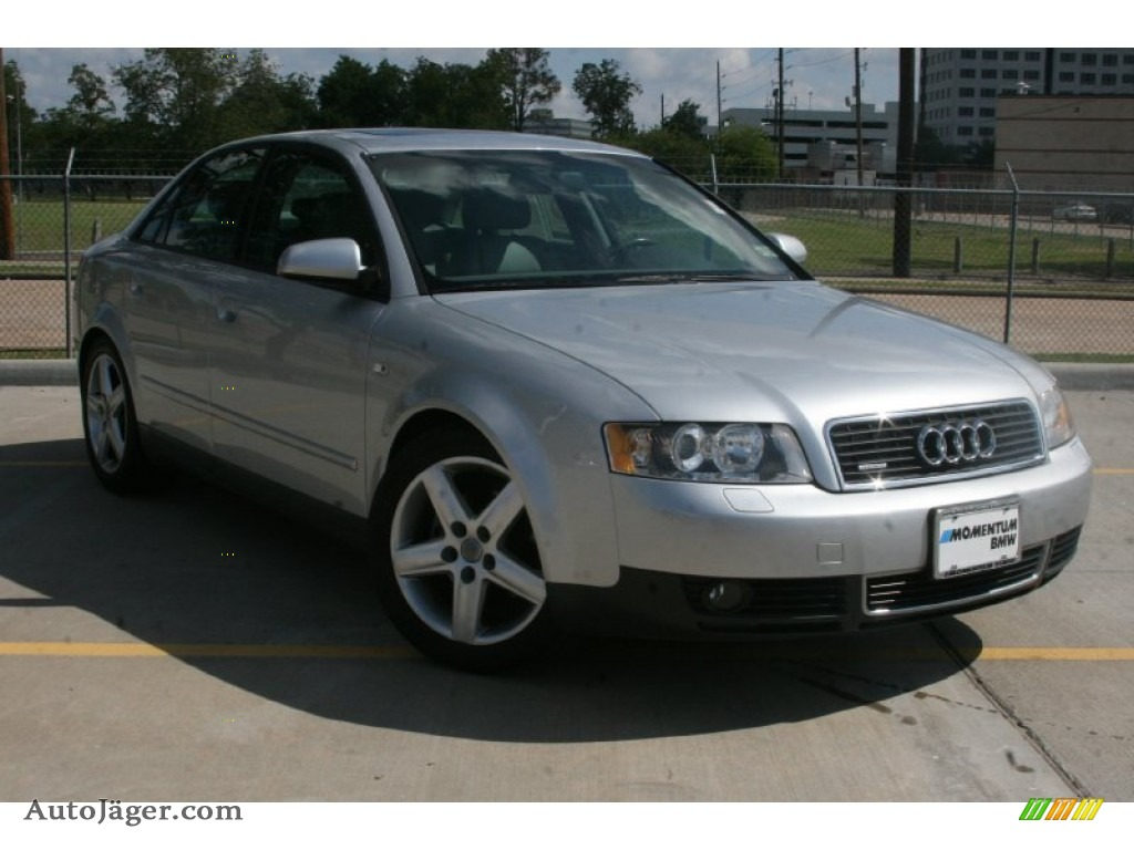 2003 audi a4 1 8t quattro sedan in light silver metallic 365983 auto j ger german cars for. Black Bedroom Furniture Sets. Home Design Ideas