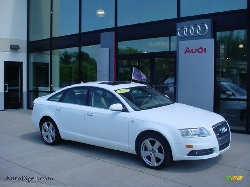 2008 Audi A6 4 2 Quattro Sedan In Ibis White 115152