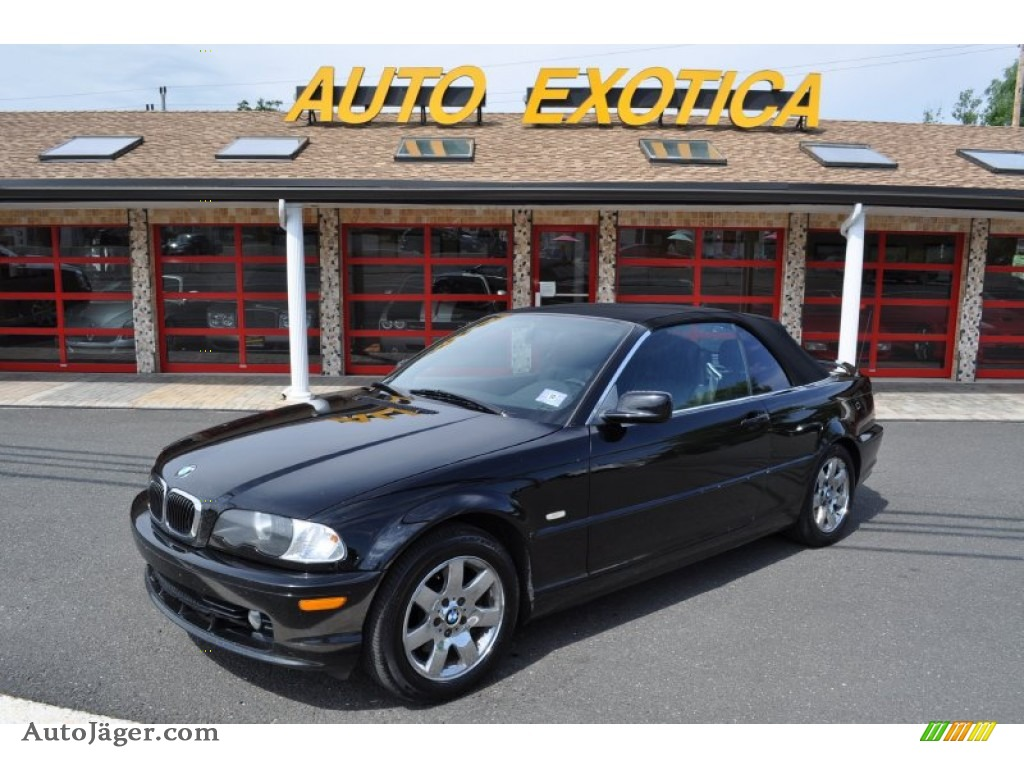 BMW Series I Convertible In Jet Black B Auto - Bmw 323i convertible for sale