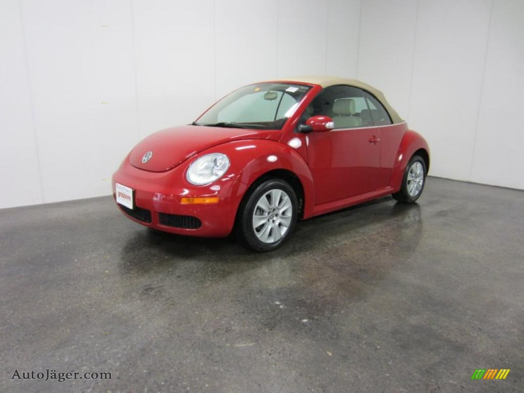 2008 volkswagen new beetle s convertible in salsa red 404415 auto j ger german cars for. Black Bedroom Furniture Sets. Home Design Ideas