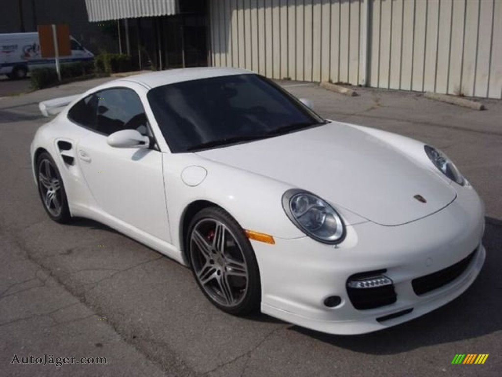 2008 porsche 911 turbo coupe in carrara white 784207. Black Bedroom Furniture Sets. Home Design Ideas