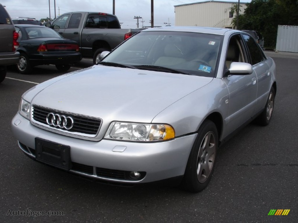 2000 audi a4 2 8 quattro sedan in light silver metallic. Black Bedroom Furniture Sets. Home Design Ideas