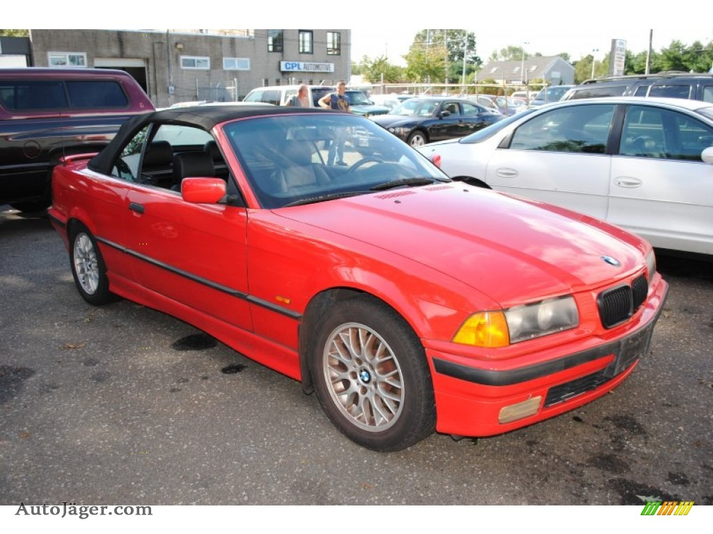1998 bmw 3 series 323i convertible in bright red photo 7 a16860 auto j ger german cars. Black Bedroom Furniture Sets. Home Design Ideas