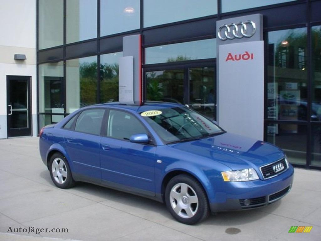 2003 audi a4 1 8t quattro sedan in denim blue pearl effect 209017 auto j ger german cars. Black Bedroom Furniture Sets. Home Design Ideas