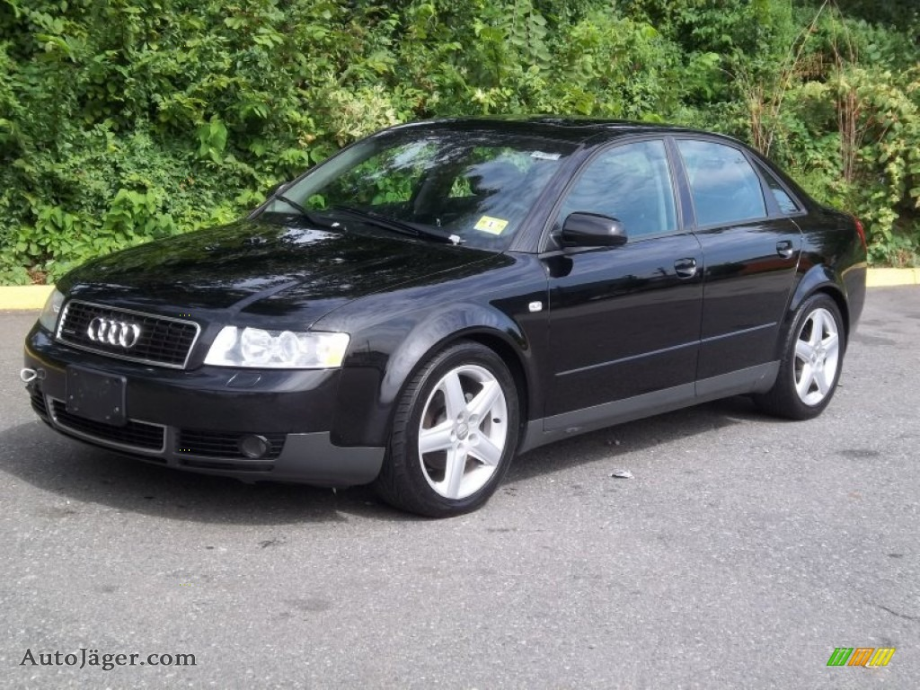 2003 audi a4 1 8t quattro sedan in brilliant black 240806 auto j ger german cars for sale. Black Bedroom Furniture Sets. Home Design Ideas
