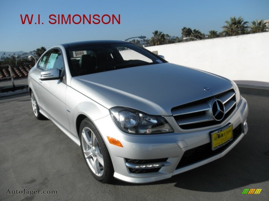 2012 mercedes benz c 250 coupe in iridium silver metallic for Simonson mercedes benz