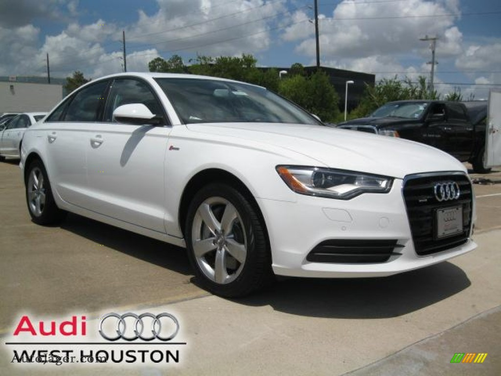 2012 audi a6 3 0t quattro sedan in ibis white 011591 auto j ger german cars for sale in the us. Black Bedroom Furniture Sets. Home Design Ideas