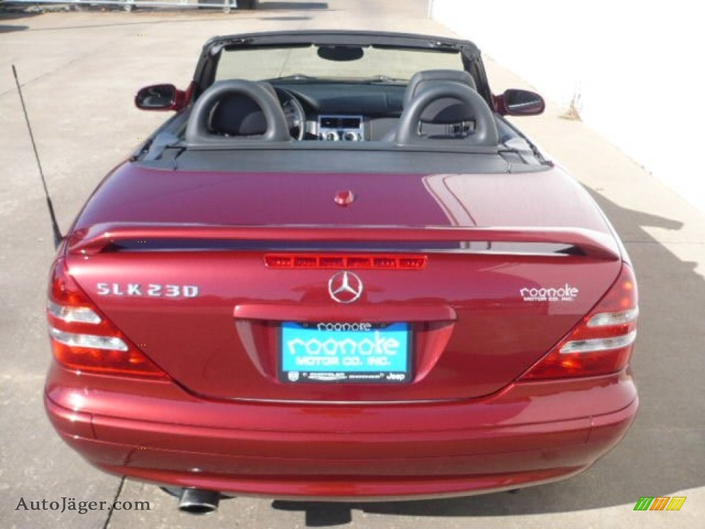 2003 Mercedes Benz Slk 230 Kompressor Roadster In Firemist Red Metallic Photo 4 291147