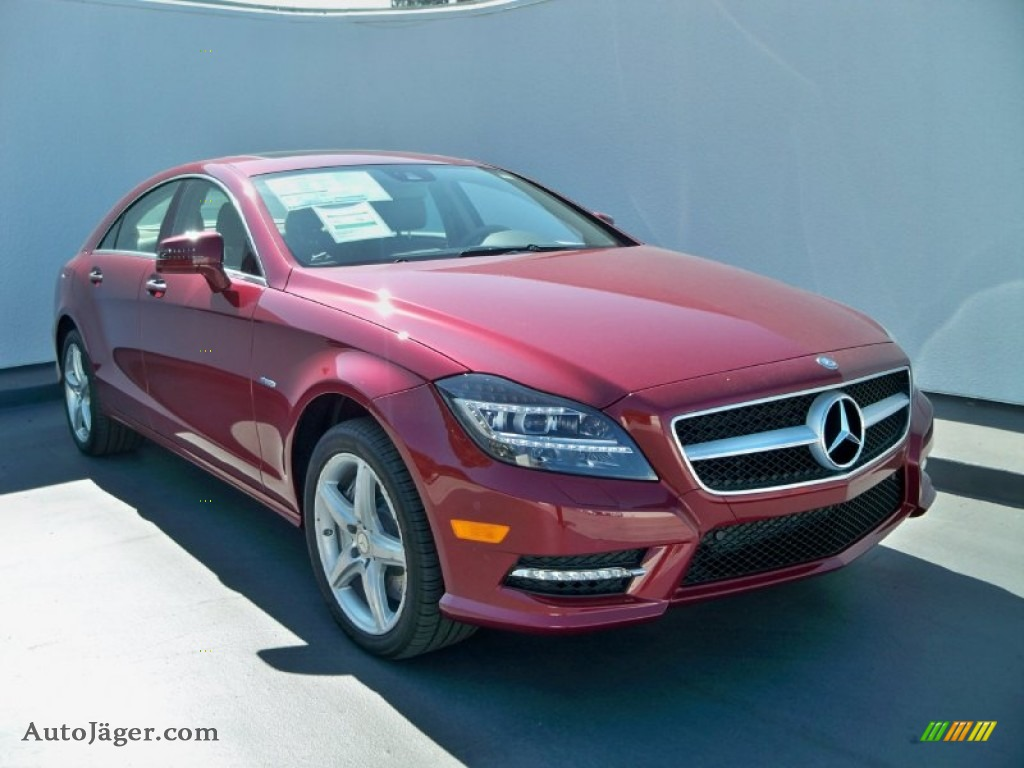 2012 mercedes benz cls 550 coupe in storm red metallic 016155 auto j ger german cars for. Black Bedroom Furniture Sets. Home Design Ideas