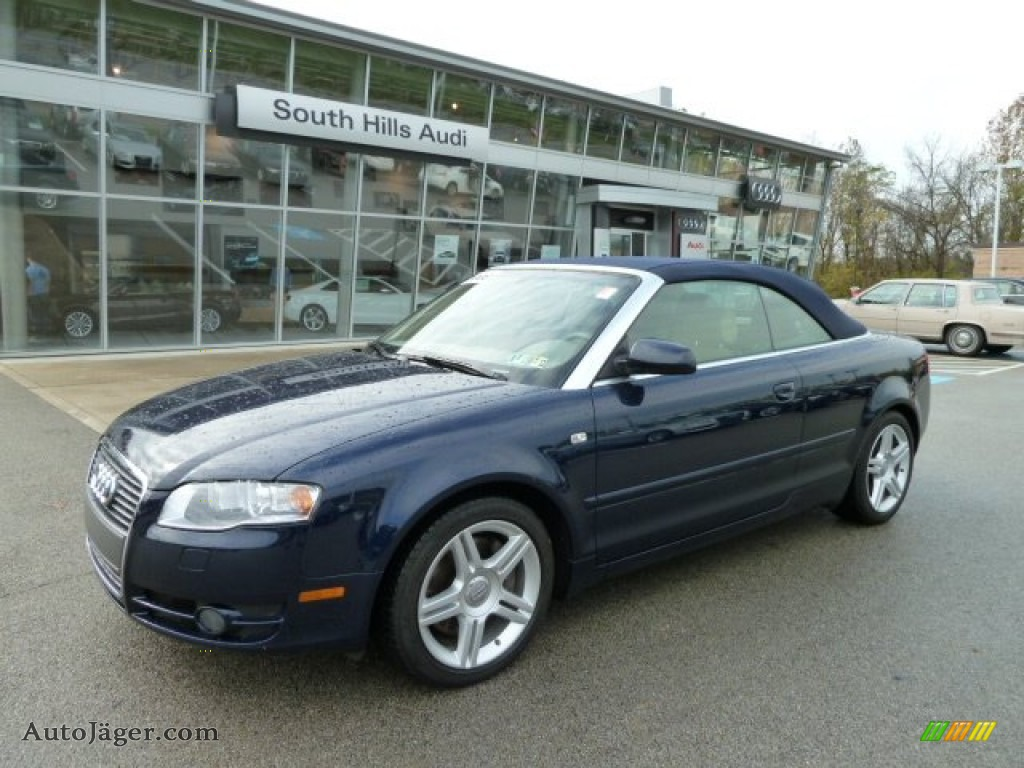 2008 audi a4 2 0t quattro cabriolet in moro blue pearl. Black Bedroom Furniture Sets. Home Design Ideas